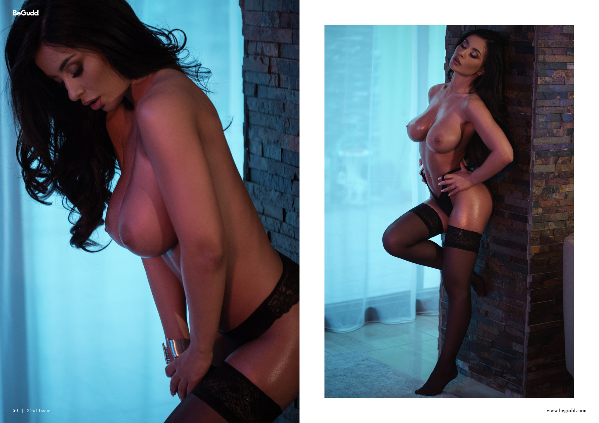 BeGudd Magazine Lavinia Hot Lingerie Model Catalin Muntean