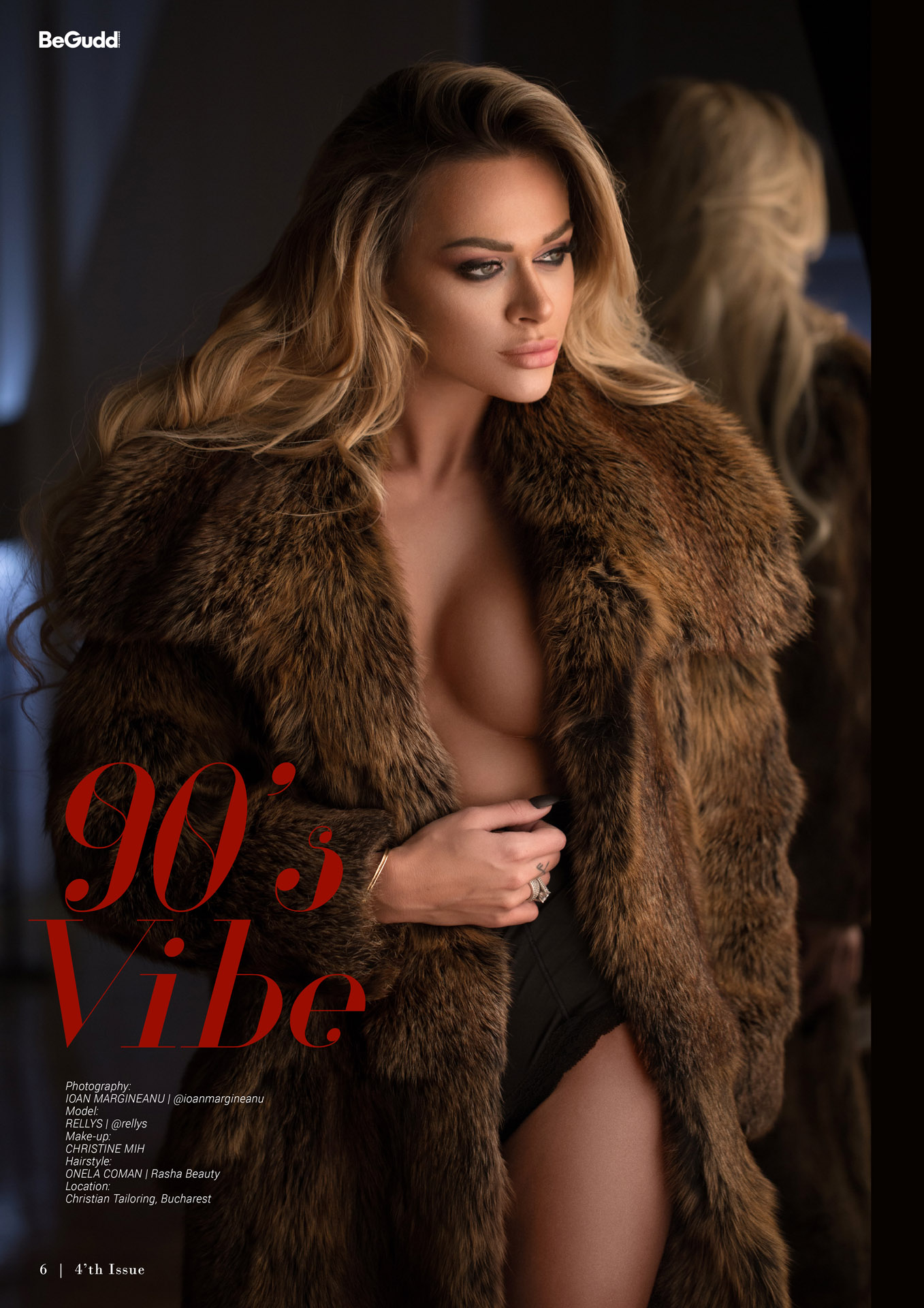 begudd magazine rellys romanian model nude sexy lingerie glamour erotic fur coat winter ioan margineanu
